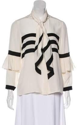 Issa Long Sleeve Silk Blouse