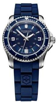 Victorinox Ladies Maverick Stainless Steel and Rubber Watch