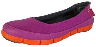 Crocs Womens Stretch Sole Flat Slip On Shoes, Vibrant Violet/Orange, US 7