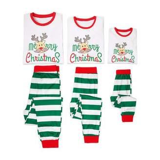 Jlong Merry Christmas Family Pajamas Sets Deer Long Sleeve Sleepwear  Nightwear 400d32c06