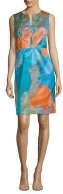 Milly Notch Print Sheath Dress