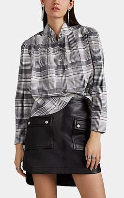 Robert Rodriguez Women's Emery Checked Cotton Blouse - Black