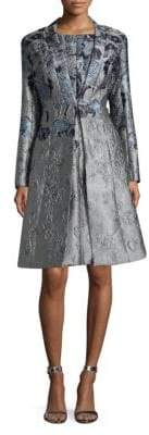 St. John Metallic Jacquard Dress