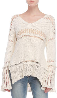 Free People Belong to You Open Knit Sweater
