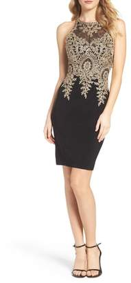 Xscape Evenings Embroidered Sheath Dress