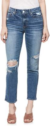 Paige Verdugo Transcend Vintage Ripped Ankle Skinny Jeans