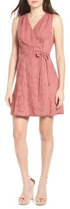 Women's Wayf Flocked Wrap Dress $69 thestylecure.com