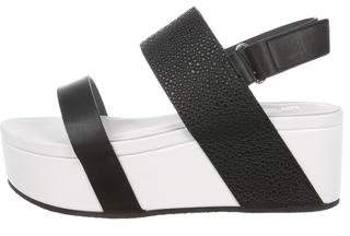 United Nude Leather Wedge Sandals