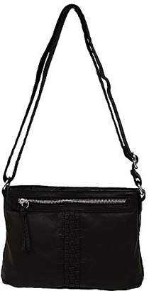 Bueno of California Faux Leather Washed Woven Crossbody