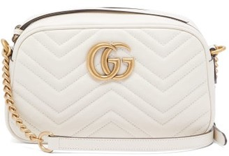 Gucci Gg Marmont Small Quilted Leather Cross Body Bag - Womens - White