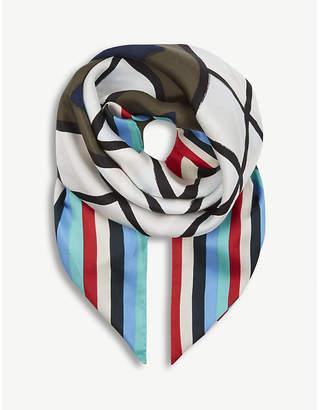 Diane von Furstenberg Newton silk scarf