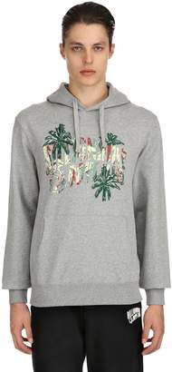 Bbc-Billionaire Boys Club Hooded Palm Logo Cotton Sweatshirt