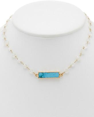 Rachel Reinhardt 14K Over Silver Gemstone Necklace