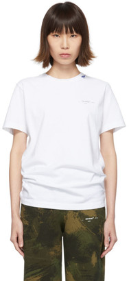 Off-White Off White White Unfinished Slim T-Shirt