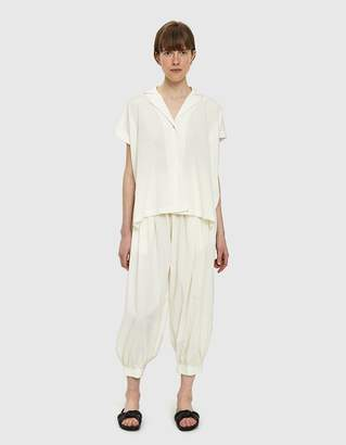 Black Crane Akari Pleated Pant in Cream