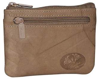 Buxton Womens Leather Heiress Pik-me-up Framed Id Coin, Credit Card Case Holder Wallet , Change Purse (Ginger Snap)
