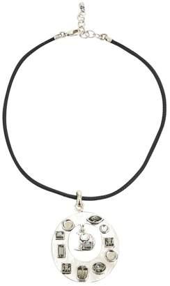 Christian Dior Vintage Silver Metal Necklace