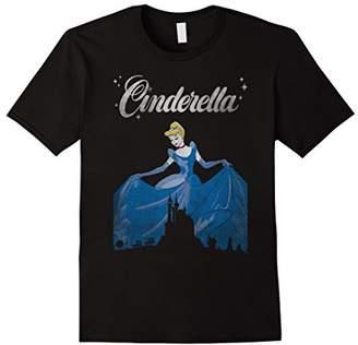 Disney Cinderella Vintage Castle Silhouette Graphic T-Shirt