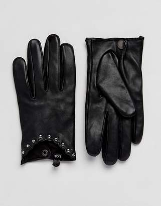 Alice Hannah Stud leather Driving Gloves