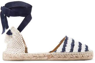 Manebi Striped Tweed Espadrilles - Blue