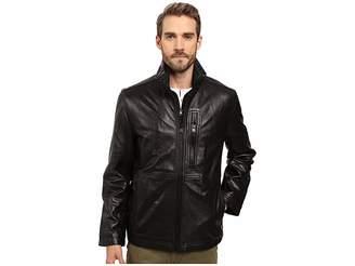 Andrew Marc Salem Leather Jacket w/ Removable Quilted Bib Men's Coat