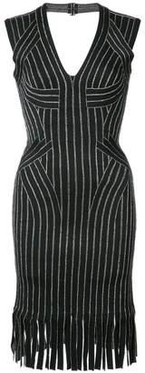 Herve Leger fringed fitted dress