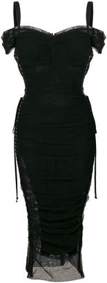 Dolce & Gabbana ruched lace-up dress