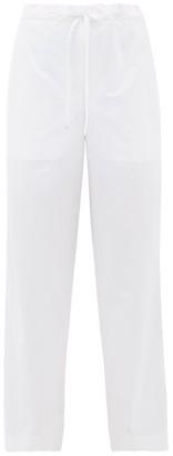 Jil Sander Satin Pyjama Trousers - Womens - White