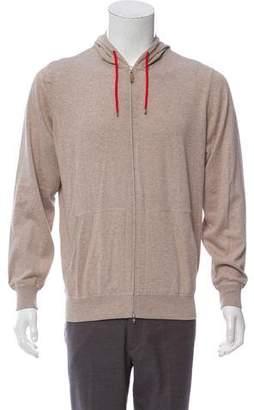 Brunello Cucinelli Hooded Zip-Up Sweatshirt