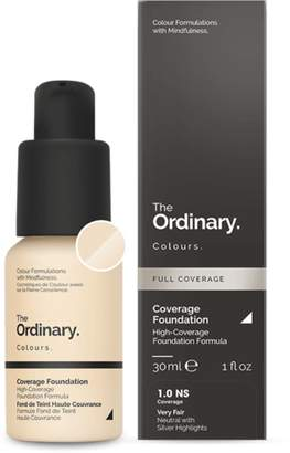 The Ordinary NEW Coverage Foundation (1.0 NS) 30ml Womens Makeup