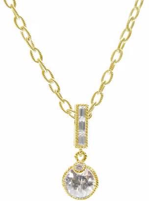 Judith Ripka Sterling & 14K Clad Diamonique Necklace