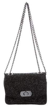Zadig & Voltaire Leather-Trimmed Glitter Bag