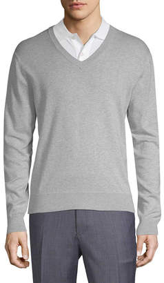 Brooks Brothers V-Neck Ribbed Sweater
