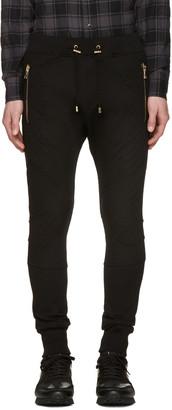 Balmain Black Diamond Lacing Lounge Pants $835 thestylecure.com