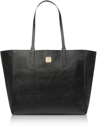 MCM Medium Metallic Leather Wandel Reversible Koppelene Shopper