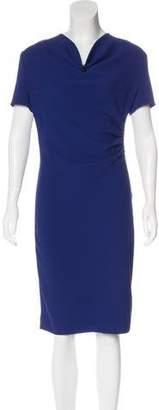 St. John Cowl Neck Midi Dress