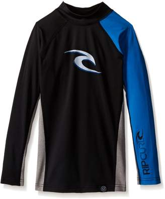Rip Curl Big Boys Youth Wave Uv Tee Long Sleeve Rashguard