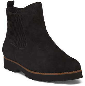 Lug Sole Suede Booties