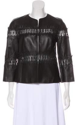 Lafayette 148 Leather Embellished Jacket