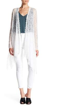 Anna Sui Vine Sheer Floral Lace Cardigan