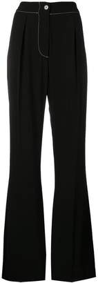 Marni satin crepe flared trousers