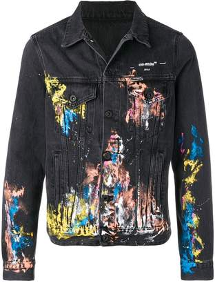 Off-White splash paint denim jacket