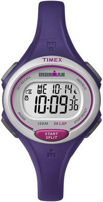 Timex Womens Ironman 30 Lap Purple Silicone Strap Digital Watch $39.96 thestylecure.com