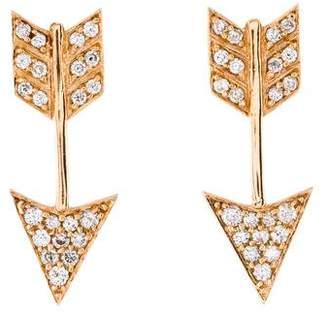 Anita Ko 18K Diamond Arrow Earrings