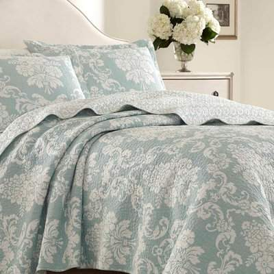 Wayfair Venetia 100% Cotton Reversible Quilt Set