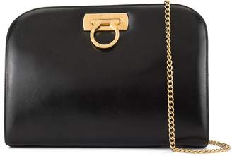 Salvatore Ferragamo Pre-Owned Gancini clasp clutch bag