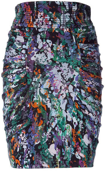 Catherine Malandrino Purple/Black/Green Nested Skirt