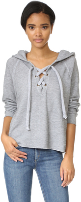 Wildfox Hutton Lace Up Sweater $123 thestylecure.com