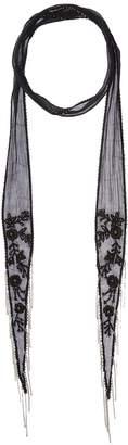 Chan Luu Floral Long Skinny Scarf Scarves