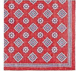 Fairfax Men's Reversible Silk Pocket Square-Red
